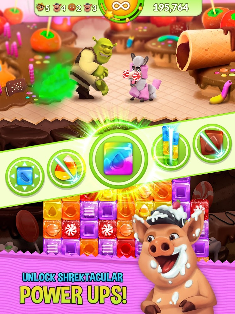 Shrek Sugar Fever - Puzzle Adventure | Apkplaygame.com
