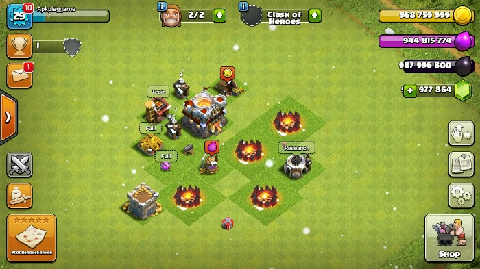 descargar apk hackeado de clash of clans