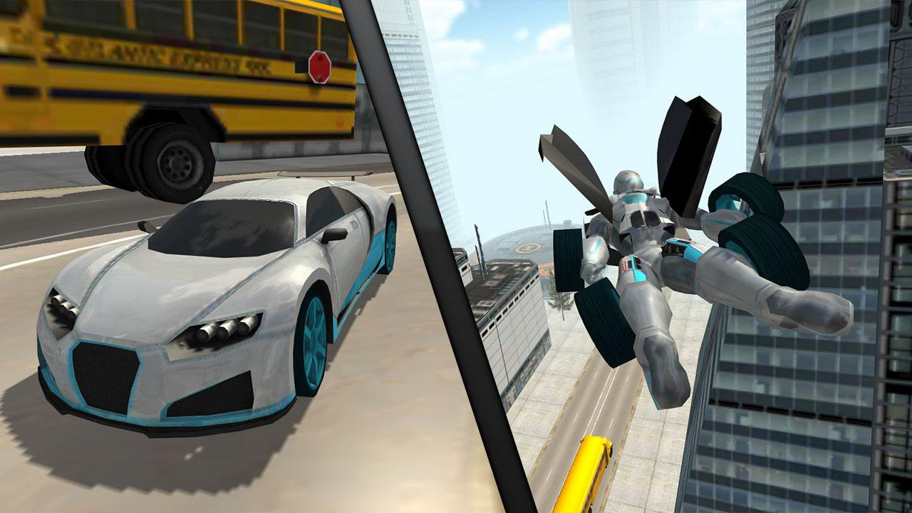 Flying Car Robot Flight Drive Simulator Game 2017 | Apkplaygame.com