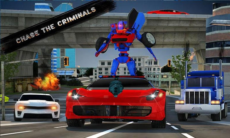 Police Robot Car Simulator | Apkplaygame.com