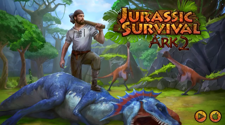 download jurassic island lost ark survival mod apk